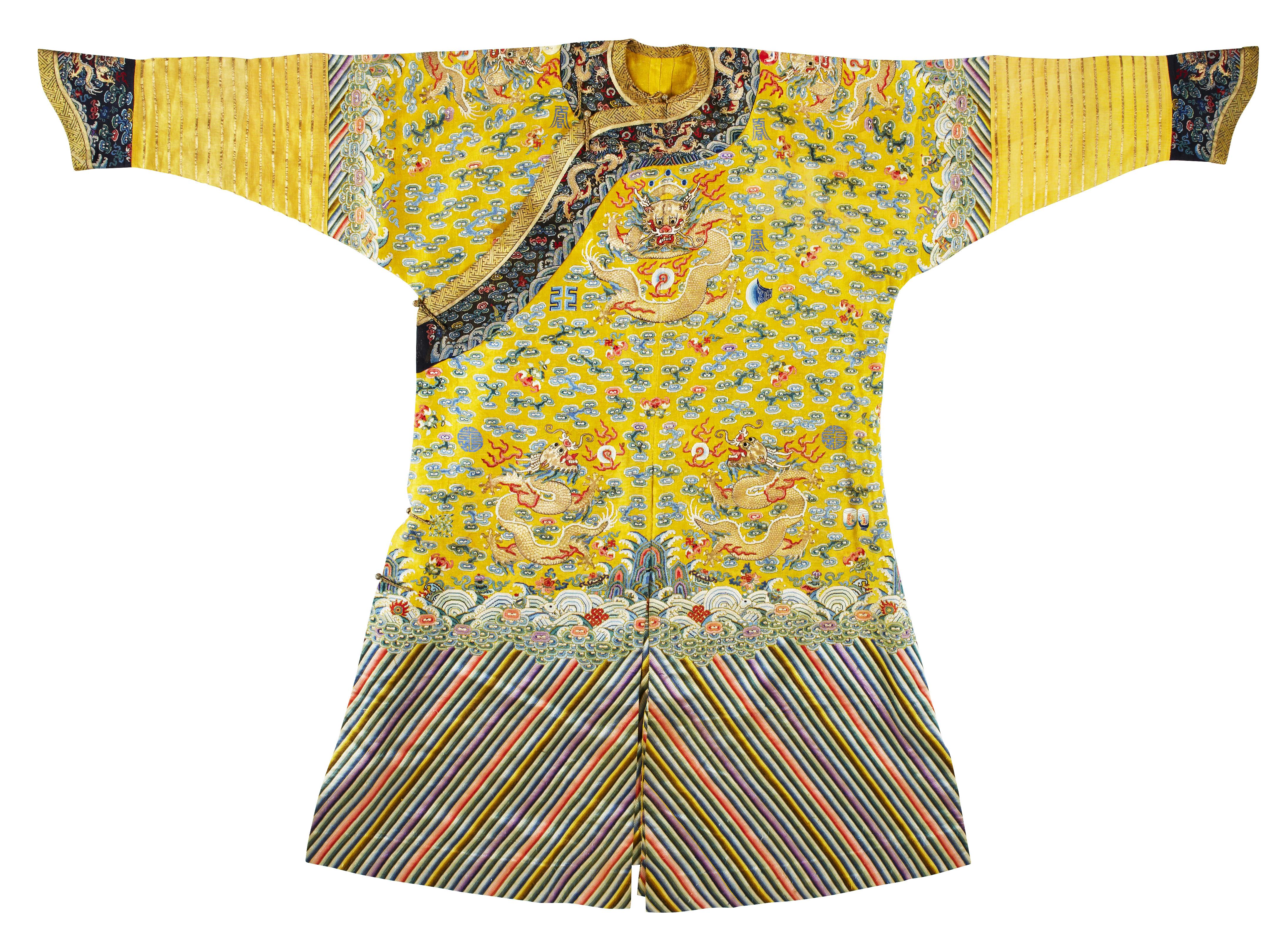 4aaf726cc94208 1329. A rare embroidered twelve-symbol semi-formal  dragon  robe ...