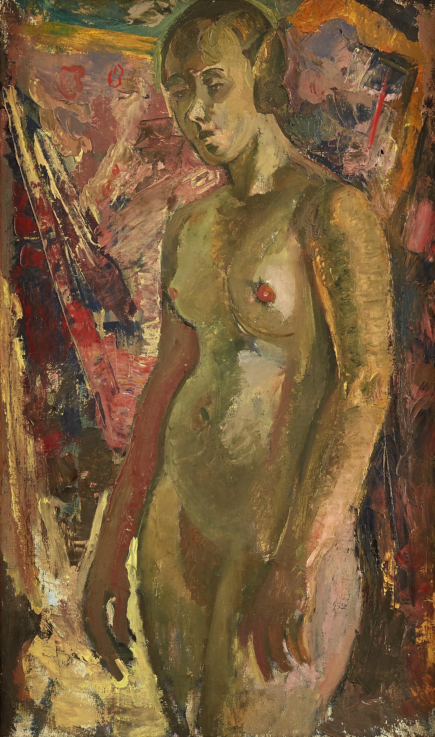 Konstnärlig naken modell